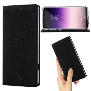 Samsung Galaxy S8 Plus case Premium Leather PU Wallet smart flip Case with Stand Kickstand Card Holder Magnetic Closure TPU bumper full cover slim Leather Case for Galaxy S8 Plus (BLACK)