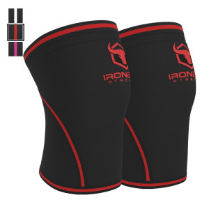 Knee Sleeves 7mm (1 Pair) - High Performance Knee Support Sleeve For Weight Lifting, Powerlifting and Crossfit - Best Knee Wraps and Straps - Provides Compression, Warmth, and Support - For Men and Women