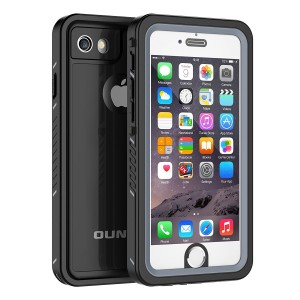 iPhone 6/6s Waterproof Case, OUNNE Shockproof Dustproof Waterproof With Touch ID Sand Proof Snowproof Full Body Cover for iPhone 6/6s(4.7inch)-Black