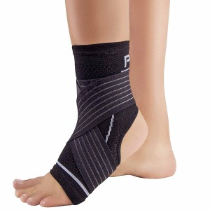 Ankle Support Brace with Open-Heel – Compression Sleeve with Adjustable Strap – Great for Running, Ankle Sprains
