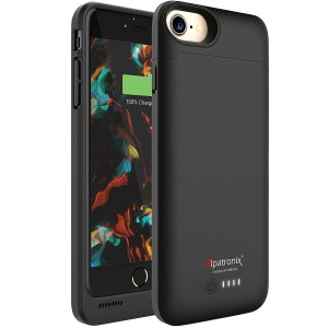 iPhone 7 Battery Case, Alpatronix BX180 4.7-inch 3200mAh Slim Rechargeable Extended Protective Portable Charging Case for iPhone 7 Charger Juice Bank Power Pack [Apple Certified Chip, iOS 10+] - Black