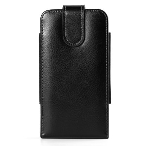 Black Texture Genuine Leather Vertical Hip Belt Clip Holster Case Pouch Bag for Samsung Galaxy Note 8 / S8+ / S8 / S8 Active / J7 V / C5 Pro / C7 Pro / A5 / A7 2017 / Apple iPhone 7 Plus