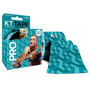 KT TAPE PRO Kinesiology Sports Tape, 20 Precut 10 Inch Strips, 100% Synthetic, Water Resistant, Breathable, Free Videos, Pro and Olympic Choice