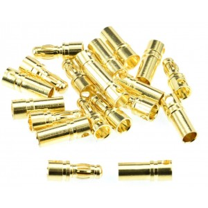 Apex RC Products 3.5mm Male / Female Gold Plated Bullet Connectors Plugs - 10 Pair #1102