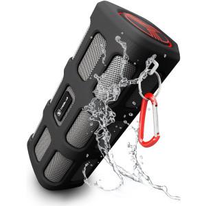 TREBLAB FX100 Portable Bluetooth Speakers - Shockproof, Water-Resistant, Rugged for Outdoors, Built-In 7000mAh Power Bank Microphone, Loud HD Audio, Deep Bass, Wireless Blue Tooth Speakerphone w/ Mic