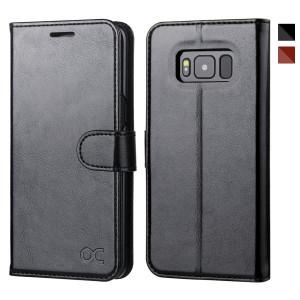 OCASE Samsung Galaxy S8 Case Leather Flip Wallet Case For Samsung Galaxy S8 Devices - Black