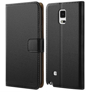 Galaxy Note 4 Case, HOOMIL Premium Leather Case for Samsung Galaxy Note 4 Phone Wallet Case Cover (Black)