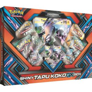 Pokemon TCG: Sun and Moon Guardians Rising Shiny Tapu KokoGX Box Featuring An Oversize Tapu Koko GX Card