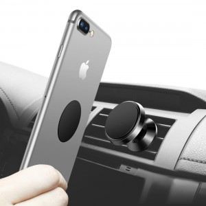 Magnetic Phone Holder for Car, Humixx Universal Air Vent Cell Phone Holder 360° Rotation GPS and Tablet Mount For Smartphone, iPhone 7, 7 Plus iPhone 8 8 Plus LG ZTE [Easy Clamping Series] (Black)