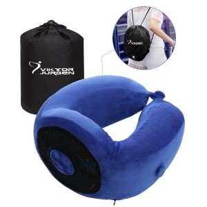 VIKTOR JURGEN Travel Neck Pillow - Memory Foam and Cooling Gel Pillows with Neck and Head Support - U-shaped,, Great Gift Idea – Perfect for Trips, Office and School Napping
