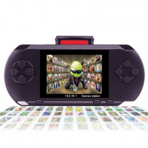 "XinXu Handheld Games Console 2.7"" LCD 16 Bit Portable Rechargeable Video Game with 150+ Games (Black)"