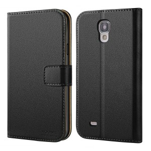 Galaxy S4 Case, HOOMIL Premium Leather Case for Samsung Galaxy S4 Phone Wallet Case Cover (Black)