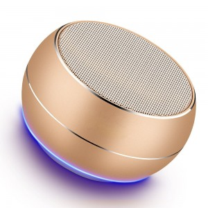 NUBWO Portable Bluetooth Speakers with HD Audio and Enhanced Bass, Built-In Speakerphone for iPhone, iPad, Blackberry, Samsung and More (Gold)