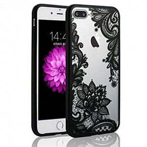 Iphone 6 Case, JICUIKE [Render Print] Phone Cases Henna Paisley Datura Sexy Lace Flower Soft Border + Matte Hard Back Cover For iPhone 6/6S 4.7 Inch [Black Mandala]