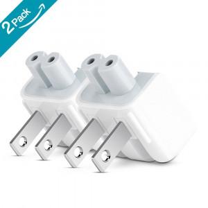 ElementDigital Mac AC Wall Adapter Plug Duckhead US Wall Charger AC Cord US Standard Duck Head for MacBook Mac iBook/iPhone/iPod AC Power Adapter Brick (2 PCs)