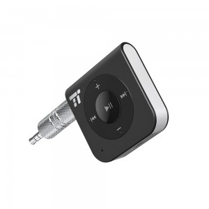 15 Hour Bluetooth Receiver / Bluetooth Car Kit, TaoTronics Portable Wireless Audio Adapter 3.5mm Aux Stereo Output (Hands-free Calling, Bluetooth 4.1, A2DP, CVC Noise Cancelling)