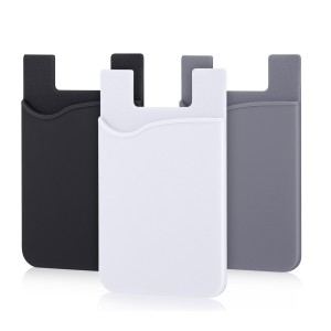 Phone Card Holder, Pofesun 3 Pack Mix Color Adhesive Sticker ID Credit Card Wallet Pocket Pouch Sleeve Universal for Smartphone, iPhone, iPad, Tablet, Android and More.(Black, White, Gray)