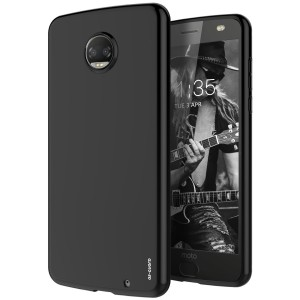 Moto Z2 Force Case, As-Guard Ultra [Slim Thin] Flexible TPU Soft Skin Silicone Protective Case Cover For Motorola Moto Z2 Force Edition (Black)