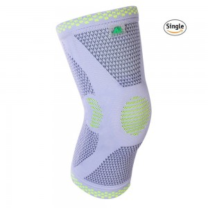 KANGDA Breathable Knee Protector Sports Elastic Knee Brace Knitted Bamboo Knee Support Single Wrap single piece
