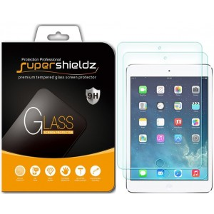 [2-Pack] Supershieldz for Apple iPad Mini 4 [Tempered Glass] Screen Protector, Anti-Scratch, Anti-Fingerprint, Bubble Free, Lifetime Replacement Warranty