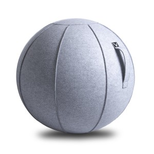 Vivora Luno exercise Ball Chair for Home, Office, Yoga, Stability and Fitness, Sitting Ball in Anthracite, Clay, and Marble with handles