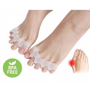 Gel Toe Separator Rubber Toe Stretchers Toe Spacers Used for Cushioning and Relieve Bunion Pain Toe Straightener Achilles Stretcher for Men and Women (1 pair)