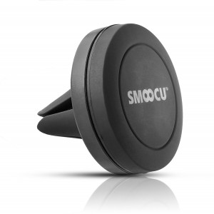 SMOOCU Advanced Air Vent Magnetic Car Phone Mount Holder with Magna-Power Technology for Smartphones including iPhone 7, 6, 6S, Galaxy S7, S7 Edge , Black