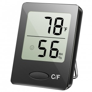 Habor Portable Hygrometer Thermometer Digital Indoor Outdoor Humidity Monitor with Table Standing, Wall Hanging, Magnet Attaching for Greenhouse Basement Office Badyroom Guitar room