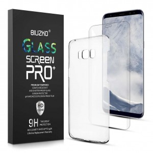 BIUZKO Galaxy S8 Plus Screen Protector and Phone Case