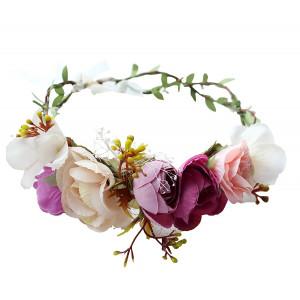 Vivivalue Flower Wreath Headband Floral Crown Garland Boho for Festival Wedding