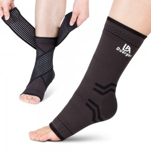 Duerger Plantar Fasciitis Socks and Elastic Compression Bandage Wrap Set: Anti-Fatigue Medical Sock Sleeve/ Heel Arch Support Socks For Cramps Relief, Compression Foot Sleeves To Prevent All Foot Pain