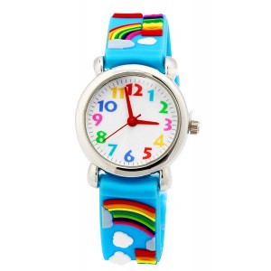 Vavna Little Girls Boy Waterproof 3D Watch Cute Cartoon Digital Wrist watches Kids Children Christmas Gift