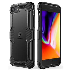 iPhone 8 Case, iPhone 7 Case, Anker Shield+ Case Dual Layer Heavy Duty Protective Military-Grade  Certified Protection [Support Wireless Charging] for iPhone 8 (2017) / iPhone 7(2016) -Black