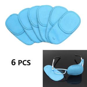 HUELE 6pcs Eye Patch for Glasses to Treat Lazy Eye / Amblyopia / Strabismus, Blue