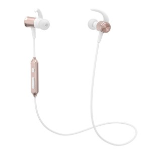 Bluetooth Headphones, Yuwiss Wireless Stereo Earphones with Mic In Ear Sport Headset v4.1 Magnetic Sweatproof Earbuds for Gym Running Workout iPhone 6 7s Plus Android Samsung Galaxy (Rose Gold)