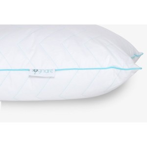 Sognare, the Finest Soft Hypoallergenic Queen Size Pillow – 100% Premium Cotton, soft gel microfiber filling. The Best balance between firmness and softness. Never loses its shape. Machine Washable.