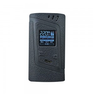 DSC-Mart Protective Case for Smok Alien 220W, Texture Silicone Skin Cover Sleeve Wrap Gel Fits SMOK Alien 220 Watt Kit Box Mod (Black)
