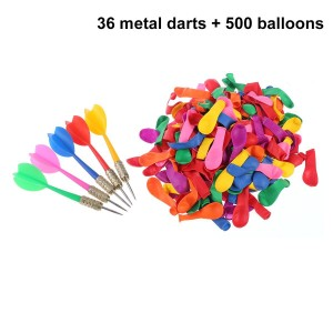 NUOLUX Balloon Pop Game,36PCS Darts 500PCS Balloons Party Carnival Balloon Pop Game