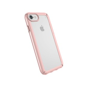 Speck Products Presidio Show Case for iPhone 8 (Also Fits 7/6S/6), Clear/Rose Gold