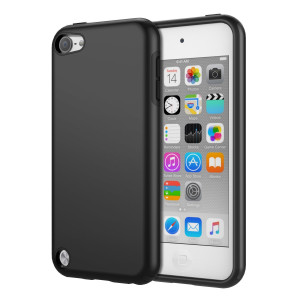 iPod Touch 6 Case, iPod Touch 5 Case, MoKo 2 in 1 Shock Absorbing TPU Bumper Ultra Slim Protective Case with Hard Back Cover for Apple iPod Touch 6th / 5th Generation, Black