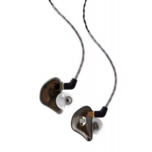 BASN BsingerBC100 Singer Headphones with MMCX Detachable Cable, Noise Cancelling In-Ear Monitor Earphones (Chocolate Brown)