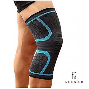 50% OFF! Compression Knee Sleeve - Knee Recovery Support for Crossfit, Weightlifting, Football, Soccer, Gym, Volleyball, Running, and other Sports