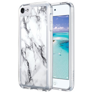 iPod Touch 6 Case,iPod 6 Case,ULAK iPod Touch 6 Marble CLEAR Case SLIM Anti-Scratch Flexible Soft TPU Bumper PC Back Hybrid Shockproof Protective Case for Apple iPod Touch 5/6th-marble pattern