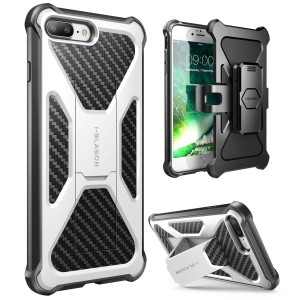 i-Blason IPhone 7 Plus Transformer Combo Holster Cover Case - White