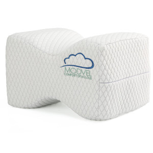 Modvel Orthopedic Knee Pillow – Memory Foam Knee, Hip, Sciatica and Lower Back Pain Relief Cushion, Provides Support and Comfort, Breathable , Between-The-Legs Pregnancy Sleep Contour Wedge (MV-104)