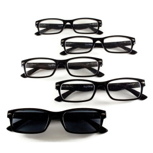 """SightPros Reading Glasses - """"cheaters""""  - set of 5 magnifying readers"""