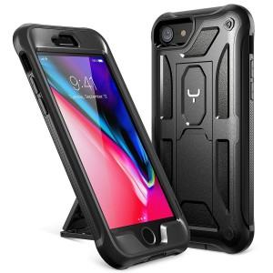 iPhone 8 Case, iPhone 7 Case, YOUMAKER Heavy Duty Protection Shockproof Belt Clip Holster Kickstand Case Cover for New Apple iPhone 8 4.7 inch (2017)/ iPhone 7 (2016) WITHOUT Screen Protector (Black)