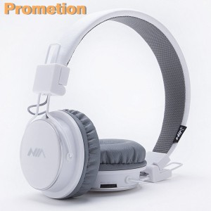 Wireless Bluetooth Headphones, Kids Headphones, Over Ear Foldable, TF card play, FM radio, Audio Input with Microphone for Iphone Android and Good Choices for Gift, On Ear White
