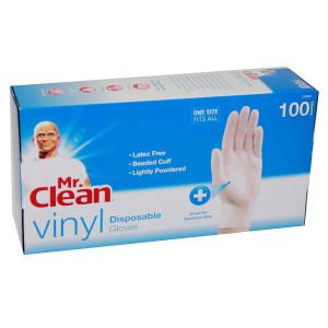 Mr. Clean Vinyl Disposable Gloves White