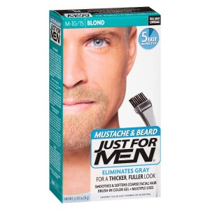Just For Men Brush-In Color Gel for Mustache & Beard,M-10/15 Blond
